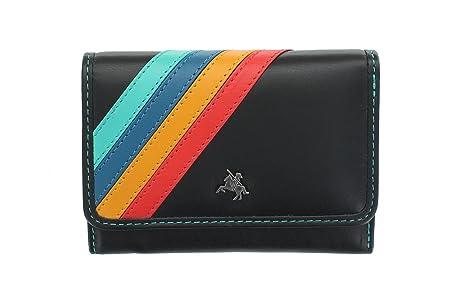 Visconti Chloe colección VERA Tri-Fold cartera de cuero con RFID protección CHL70 negro