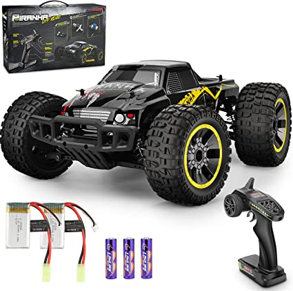 Amazon Com Remote Control Car 1 10 Scale Rc Racing High Speed Car 4wd All Terrains Waterproof Drift Off Road Vehicle 2 4ghz Rc Road Monster Truck Included 2 Rechargeable Batteries Toy For Boys Teens Adults Toys Games