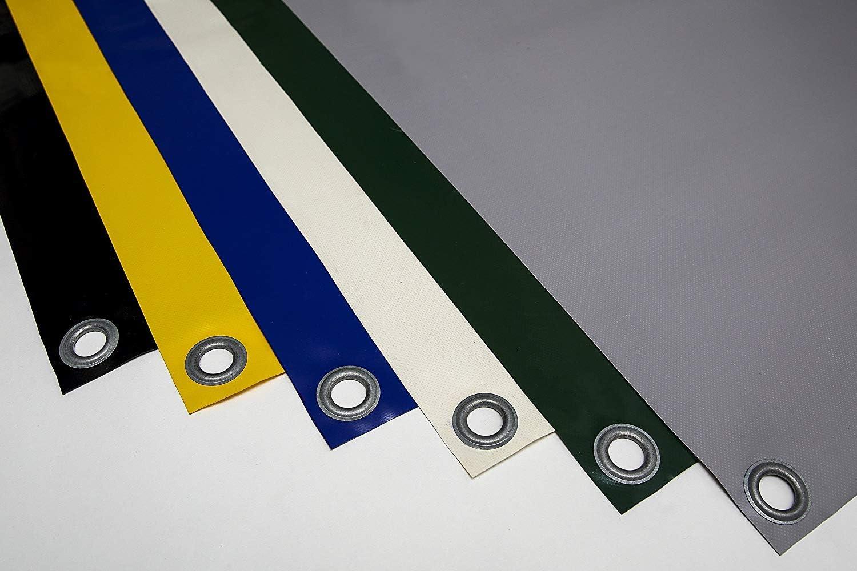 2,5m x 3m, Braun RAL8017 610g//m/² OHNE SAUM LKW Plane PVC Plane mit 12mm /Ösen verschiedene Farben