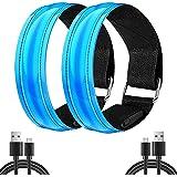 Rechargeable Walking Lights LED Armband / LED Bracelet for walking, Flashing High Visibility Led Running Light, Reflective Le