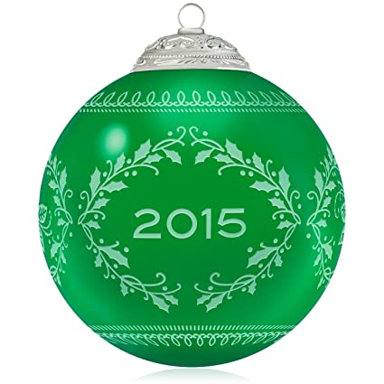 Commemorative Christmas Green Ball Ornament 2015 Hallmark - Amazon.com: Commemorative Christmas Green Ball Ornament 2015
