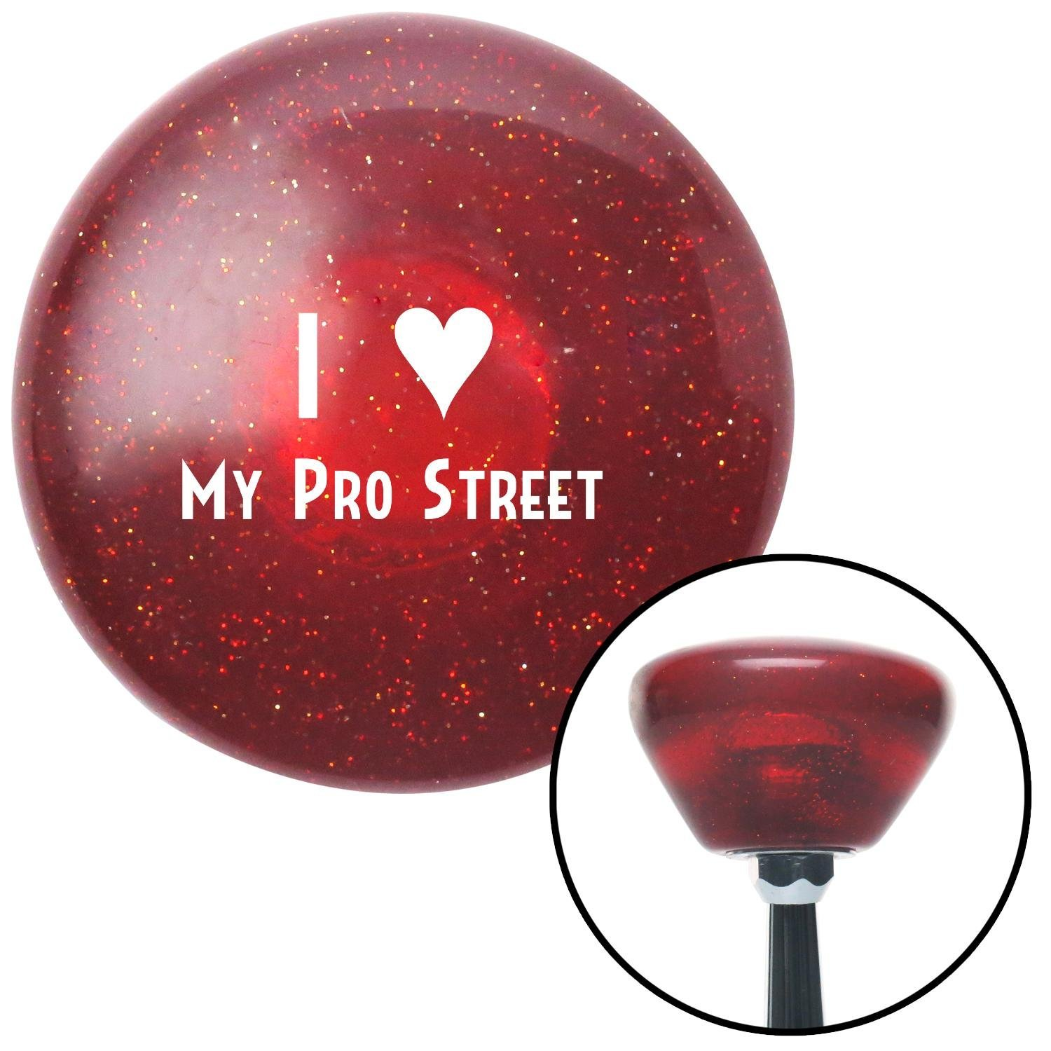 American Shifter 194687 Red Retro Metal Flake Shift Knob with M16 x 1.5 Insert White I 3 My PRO Street