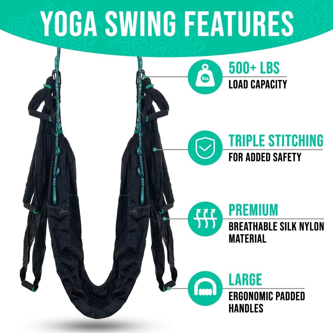 Amazon.com: Hamaca de yoga trapeze – juego de columpio de ...