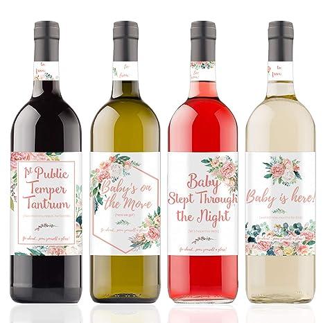 Amazon.com: Etiquetas de regalo para botella de vino, diseño ...