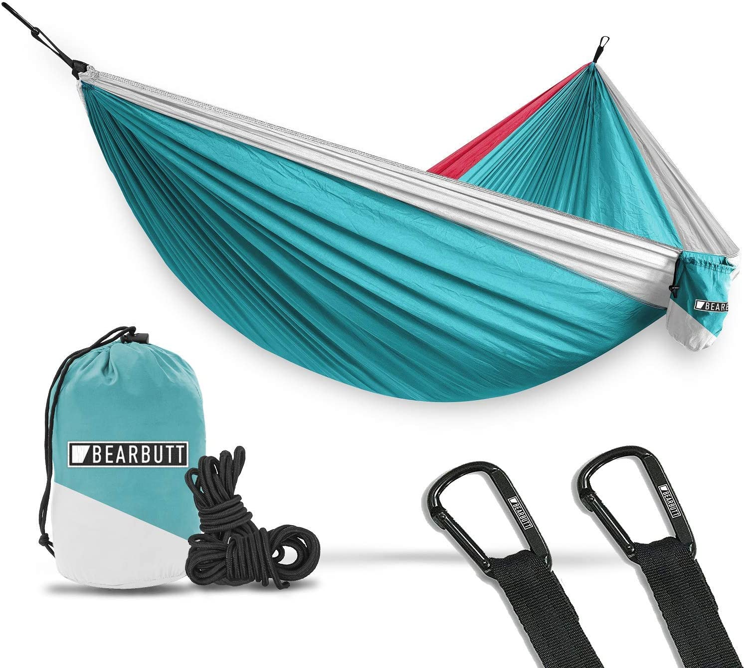 Bear Butt Hammocks – Camping Hammock for Outdoors, Backpacking Camping Gear – Double hammock, Portable hammock, 2 Person Hammock for Travel, outdoors – Tree Hiking Gear – Hammock that Holds 700lbs