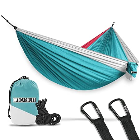Bear Butt Hammocks – Camping Hammock for Outdoors, Backpacking Camping Gear – Double Hammock That is a Portable 2 Person Hammock for Travel, Outdoor, Tree Hiking Gear – Holds 700lb – USA Brand