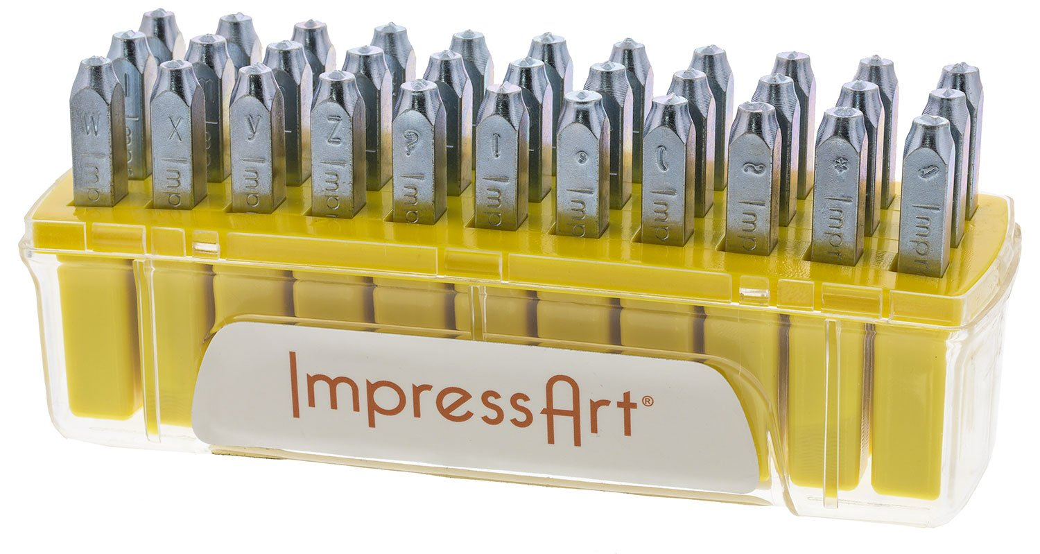 ImpressArt SC1311A-4mm Jeanie Letter Metal Stamps, Lowercase