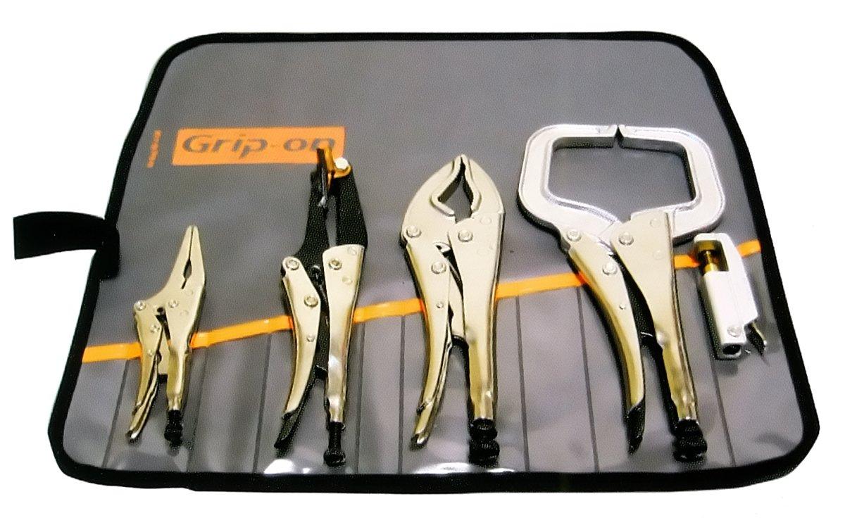 Grip-On WK500 5-Piece Welders Locking Pliers Kit in Roll-Up Pouch