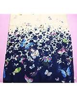 Meily Las mujeres de la mariposa Impreso Flor suave Silenciador gasa del mantón del abrigo de la bufanda
