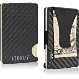 Storus Smart Wallet | Carbon Fiber RFID Blocking Card Holder Money Clip | Minimalist Slim Pocket Wallet for Men