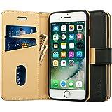 Labato iphone8 plusケース iphone7 plusケース 手帳型 人気 カード収納 財布型 スタンド機能 耐衝撃 耐摩擦 TPU シリコン 高級PUレザー アイフォン8プラス ケース 100%手作り アイフォン7プラス カバー 100%手作り マグネット式 ブランド スマホケース メーカー直営 (lbt-I7L-18D10, ブラック)