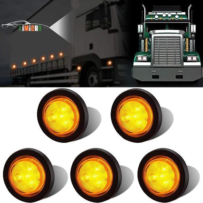 2 PAIR OF BRITAX 883 AMBER SIDE MARKER LIGHTS LAMPS BESSACARR CAMEO CARAVAN