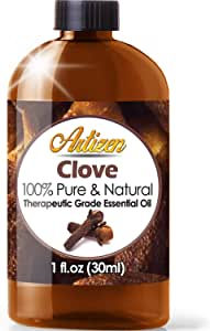 Artizen Clove Essential Oil (100% PURE & NATURAL - UNDILUTED) Therapeutic Grade - Huge 1oz Bottle - Perfect for Aromatherapy, Relaxation, Skin Therapy & More!