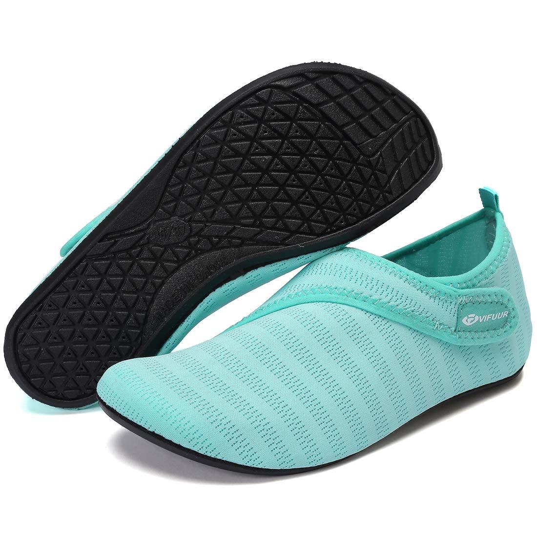 Surf Spiaggia Aqua Yoga VIFUUR Scarpe per Sport Acquatici in Mesh da Donna Regolabili per Outdoor da Uomo
