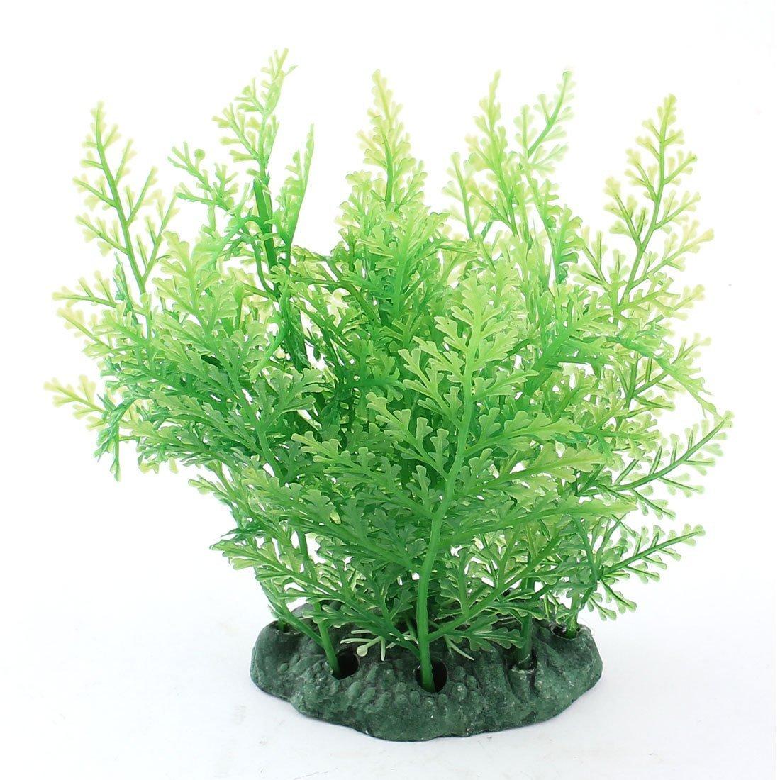 1Pc Water & Wood Fish Tank Aquascape Green Snowflake Shape Artificial Plant 4.9  High