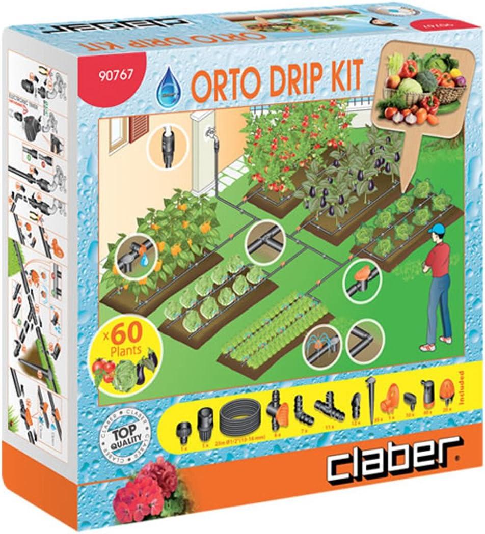 Gocciolatore regolabile l//h 0-40 kit da 100 pezzi per irrigazione a goccia