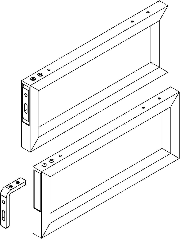 Console pour Lavabo WK480 avec Porte-Serviettes 480 x 200 x 30 mm chrom/ées Support pour Lavabo Console Murale Support pour Lavabo de SO-TECH/®