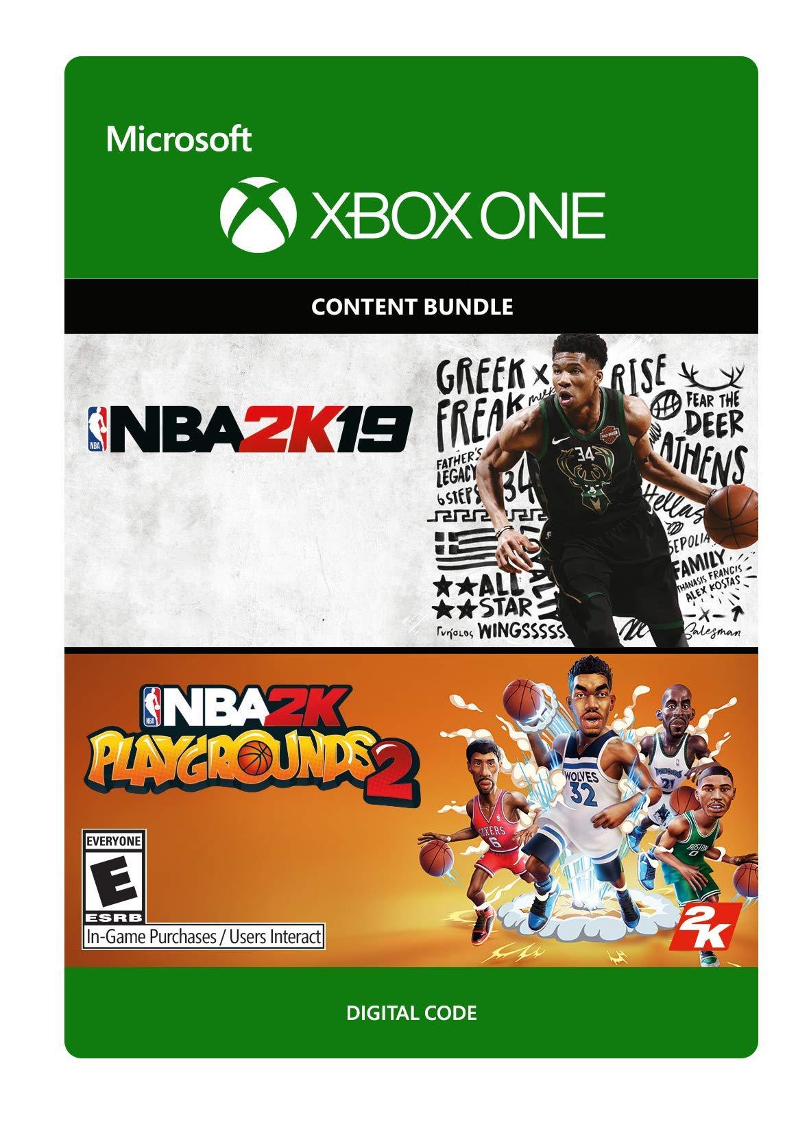 NBA 2K19 + NBA 2K Playgrounds 2 Bundle - Xbox One [Digital Code]