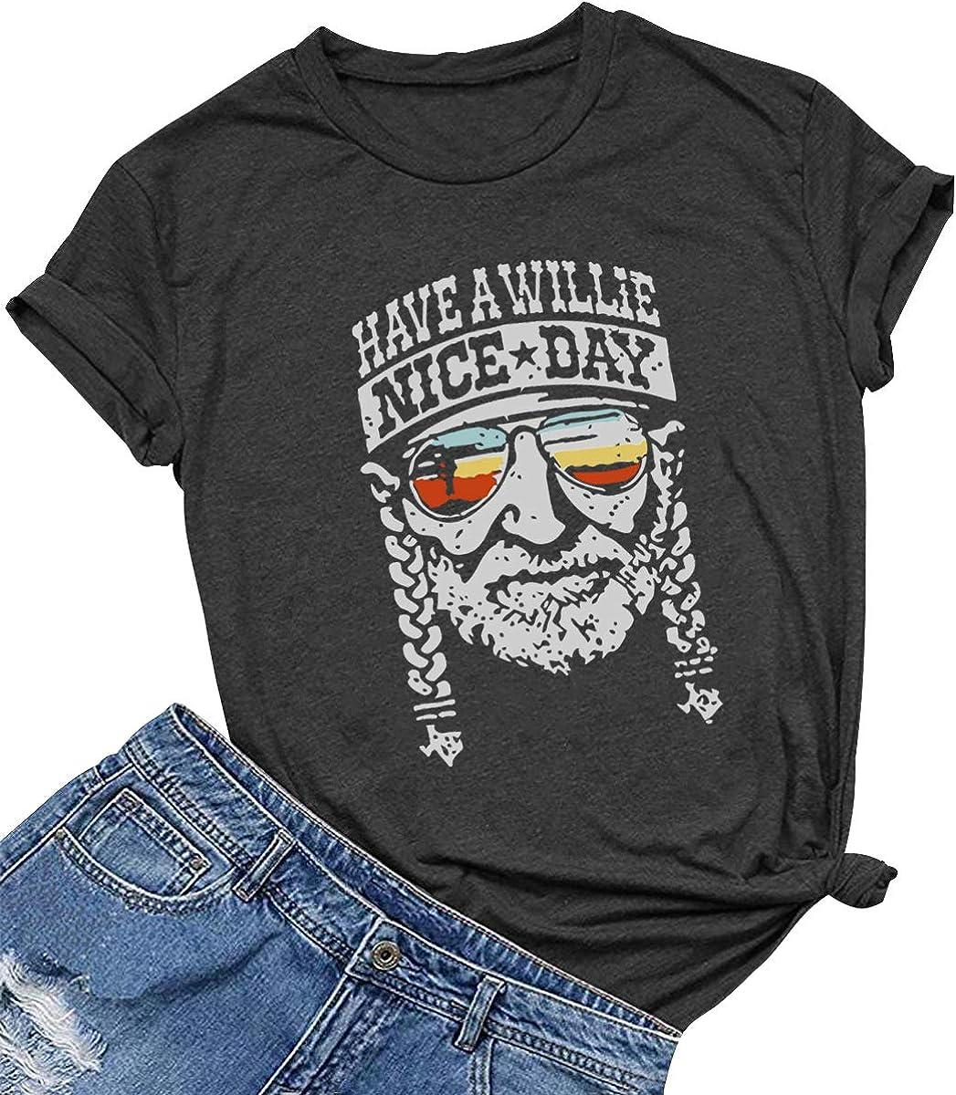 SELECTEES WomenGraphic Cute T Shirt Summer Tees(Gift Ideas)