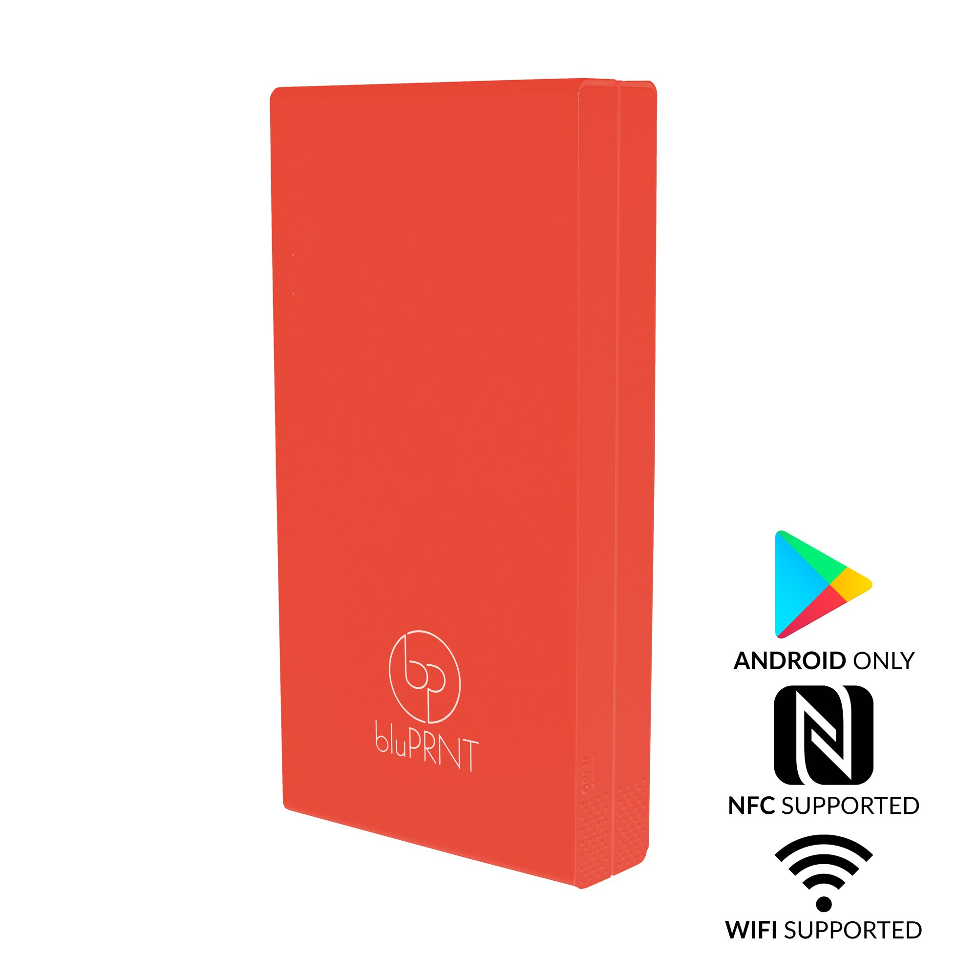 bluPRNT Instant Portable Printer for Smartphone Social Media Photos With WiFi & NFC, Compatible With only Android - Red by BluPrnt (Image #2)