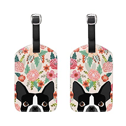 8580c2aa7616 Amazon.com | Luggage Tags PU Leather Suitcase ID Tags Travel Baggage ...