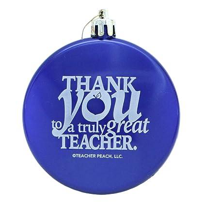 teacher peach teacher appreciation christmas ornaments thank you shatterproof ornament gift blue