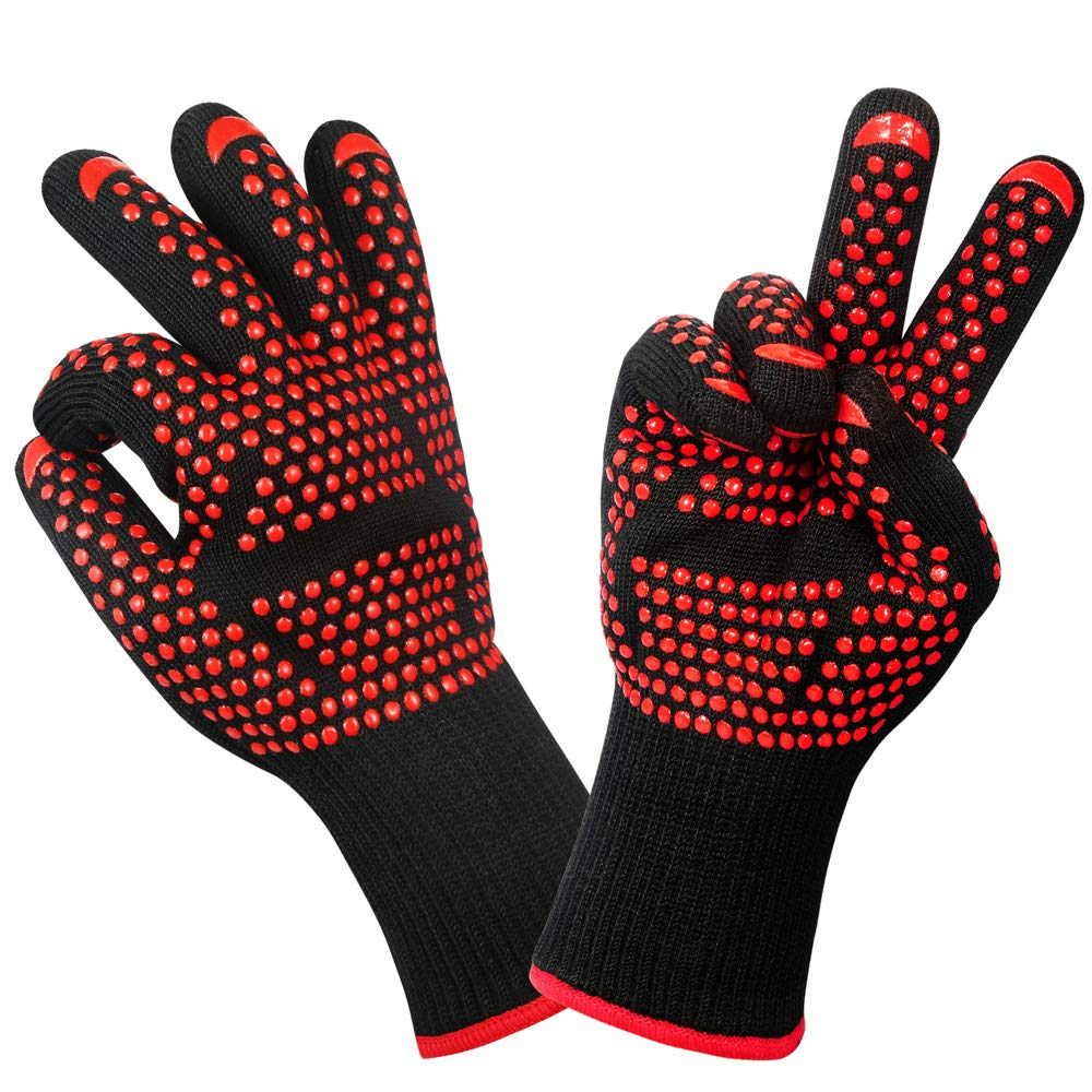 Grilling Gloves /& Oven Mitts Made of Non-Toxic Silicone Oven Gloves of Heat Protection Up to 1472/°F //800/°C Baking Gloves Non-Slip Design. Whitephant Kings Heat Resistant Gloves BBQ Gloves