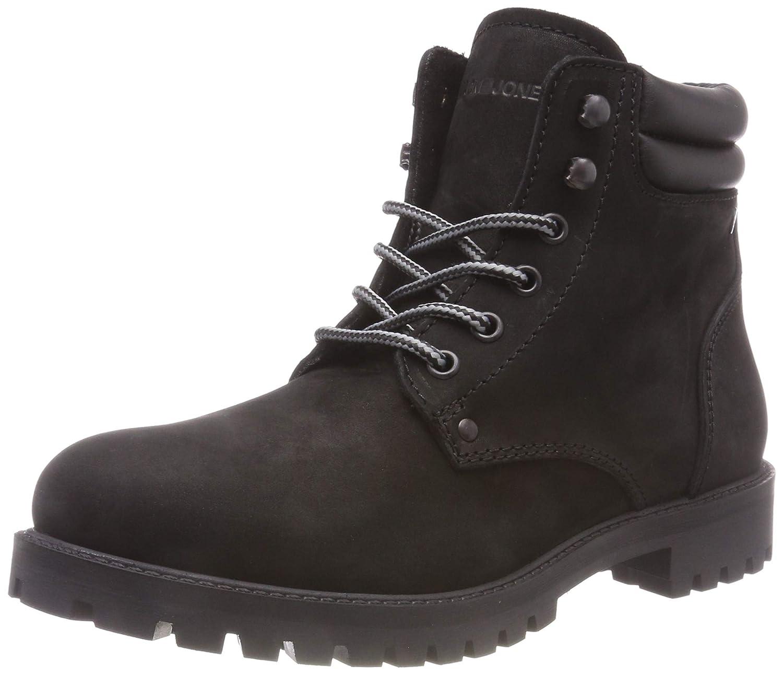 Jack & Jones Jfwstoke Nubuck Boot Mono Black Noos, Botas Clasicas para Hombre