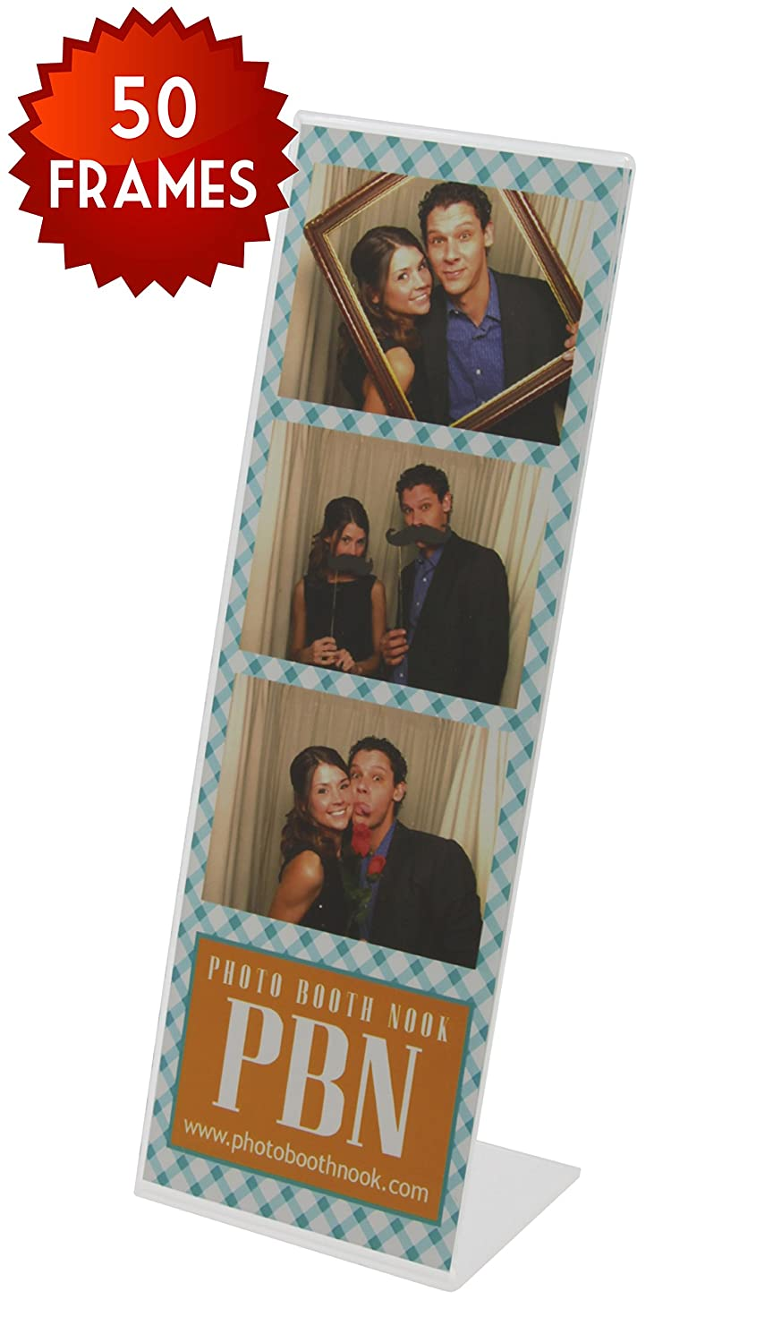 Amazoncom 50 Photo Booth Frames Slanted Acrylic For 2x6 Picture