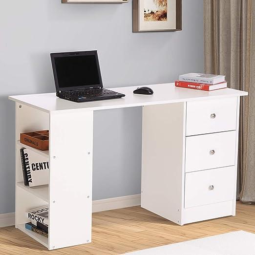 Homcom - Escritorio de madera para colocar ordenador de mesa con ...