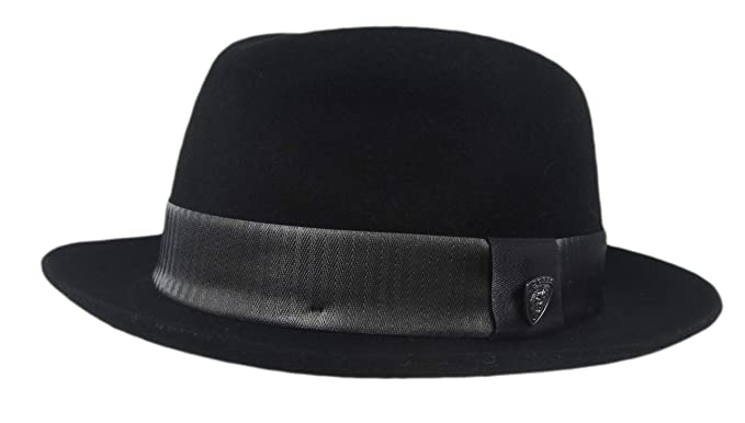 98c9214baf34e Image Unavailable. Image not available for. Color  Dobbs Fifth Avenue New  York Kirk Black Fedora ...