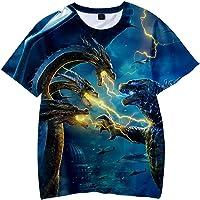 PANOZON Camiseta para Niños Impresión 3D de Godzilla para Fanes de Godzilla Monstruos T-Shirts Unisex
