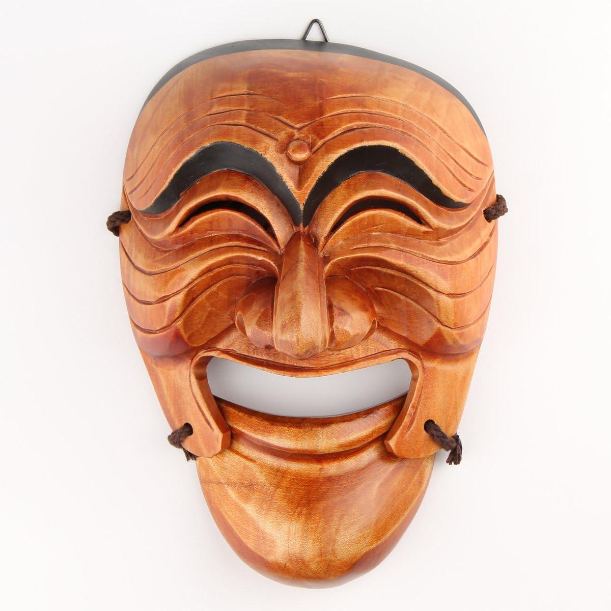 Real Human Face Size Korea Traditional Hahoe Mask Baekjeong Butcher