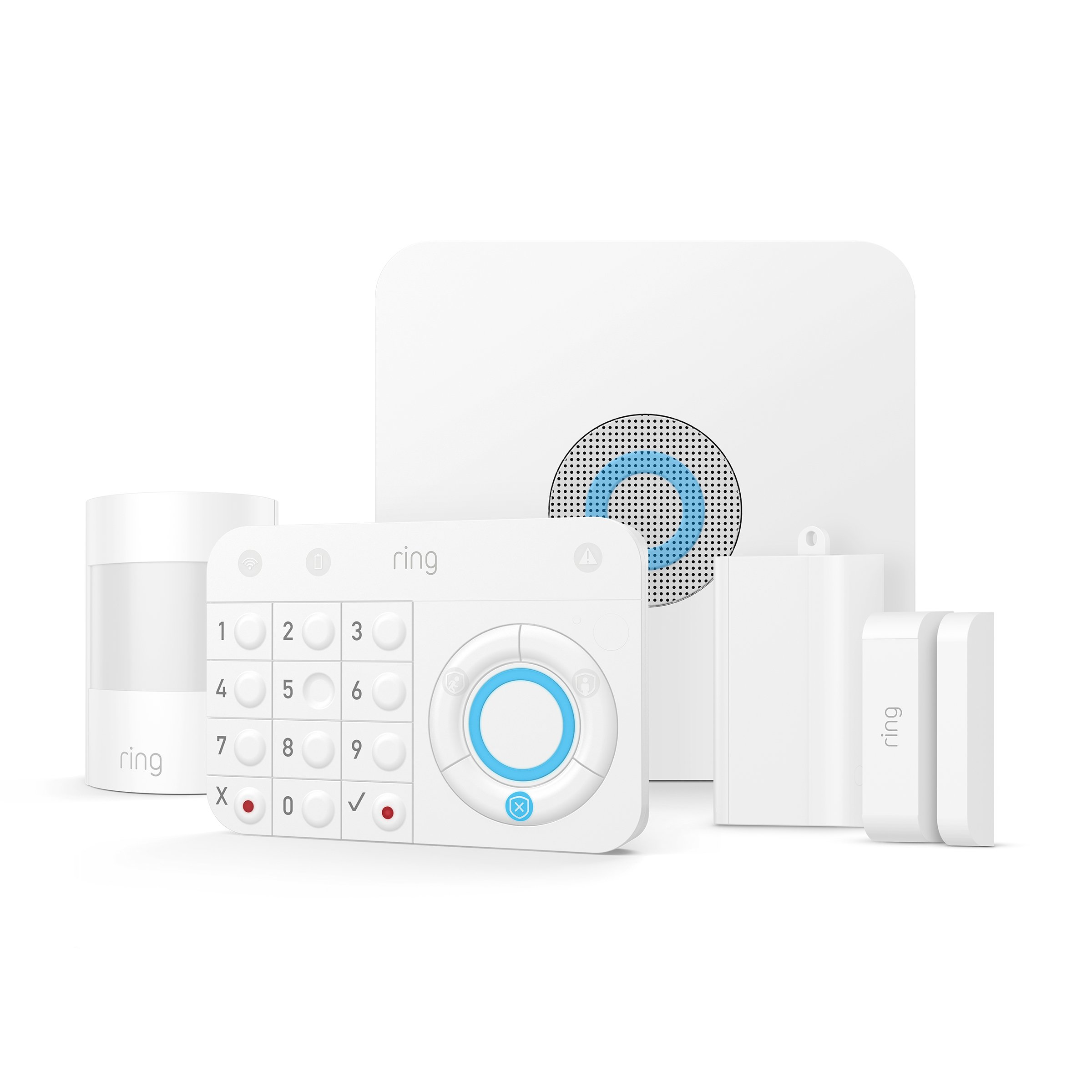 Ring Alarm 5 Piece Kit - Home Security System with optional 24/7 Professional Monitoring - No long-term contracts - Works with Alexa by Ring