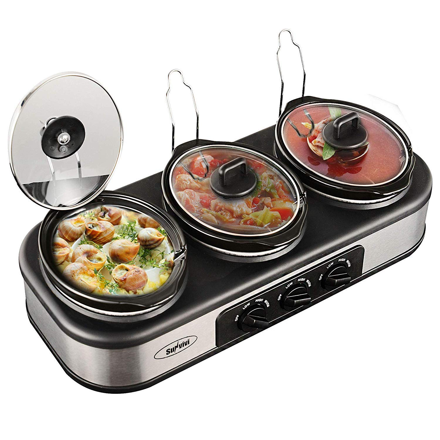 Sunvivi Electric Slow Cooker for Household Use, Food Warming Soup Cooker, Crock Pot Food Warmer for Party Holiday