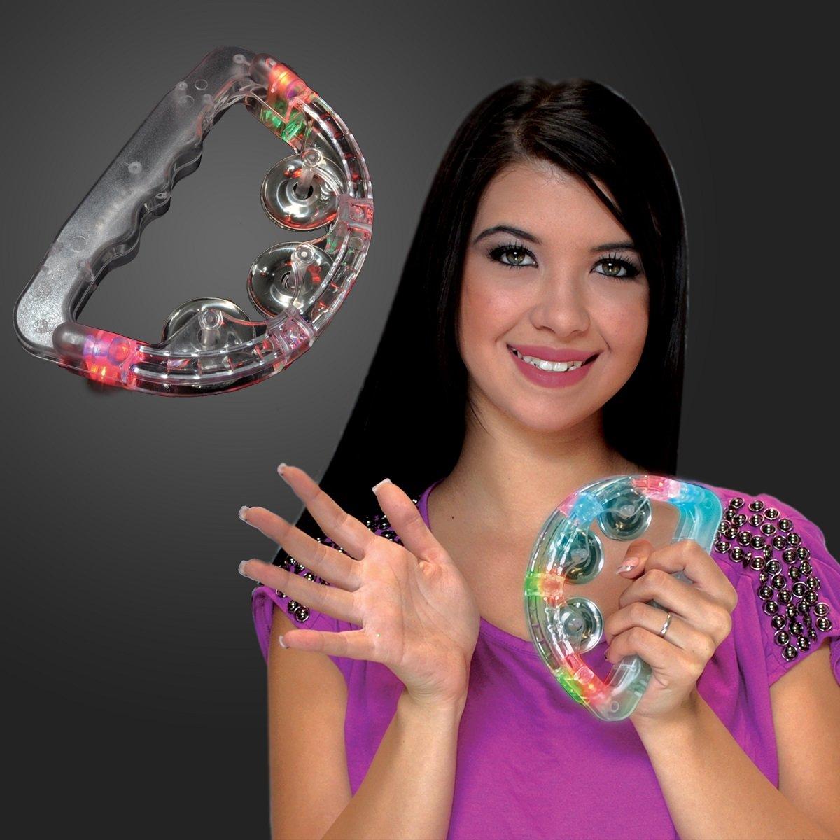 FlashingBlinkyLights Light Up Toy Tambourines (Set of 12)