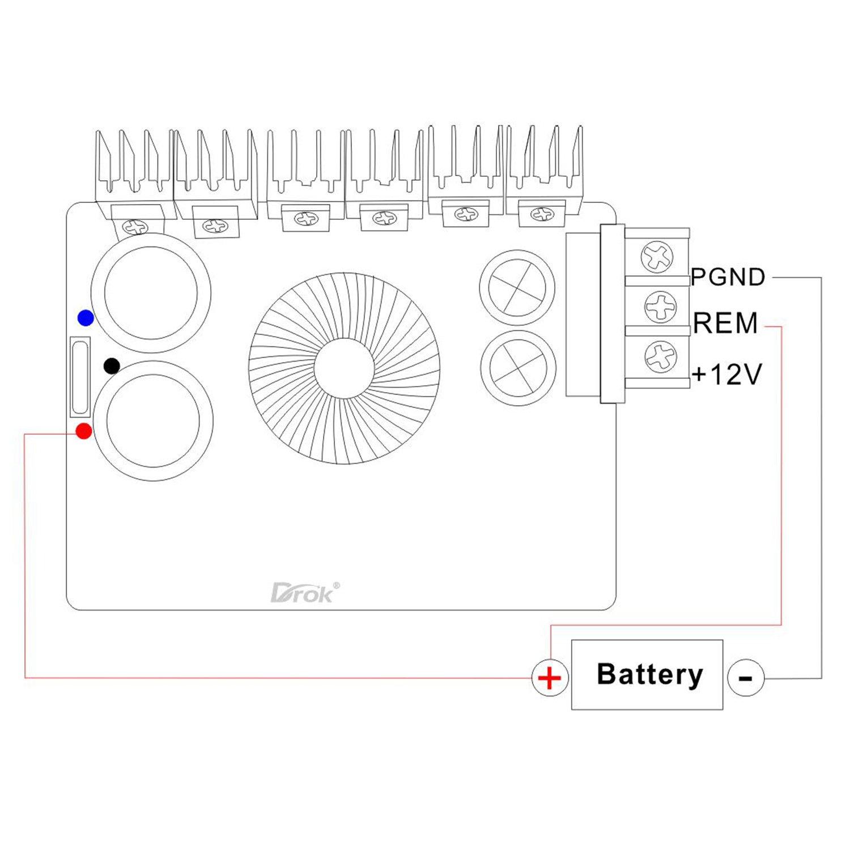 Drok Boost Voltage Power Supply Module Volt Converter Positive Regulator With Pnp Electronics