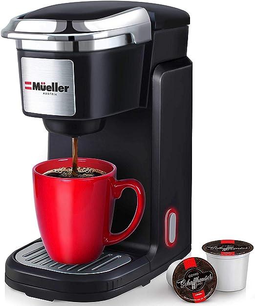 Mueller Barista Pro Cafetera de una sola porción, máquina de café ...