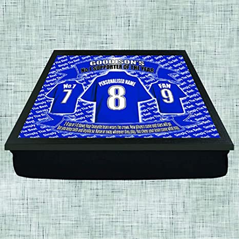 Everton Football Shirt Personalised Lap Tray Gift