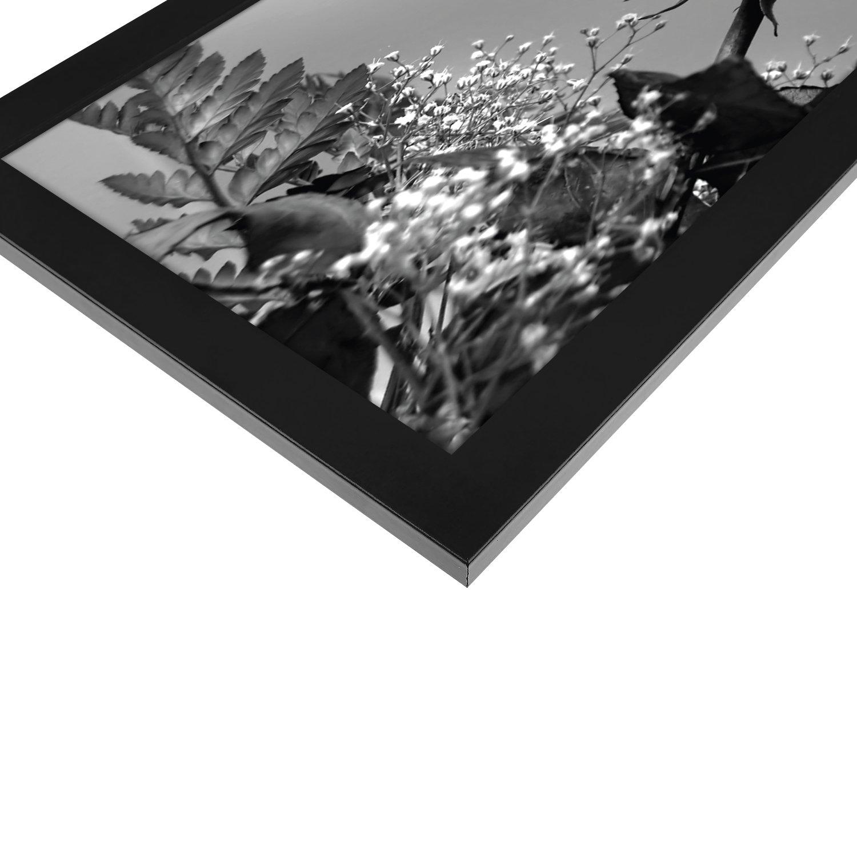Amazon.de: A4 (21x29, 7cm) Schwarzer Bilderrahmen mit Glasfront ...