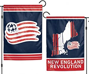 """WinCraft New England Revolution Double Sided MLS Garden Flag Licensed Soccer 12.5"""" X 18"""""""