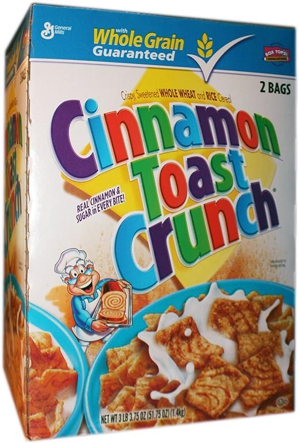 Tostado canela CRUNCH cereales 2 bolsas, 3 Lb 1,5 oz caja: Amazon.es: Alimentación y bebidas