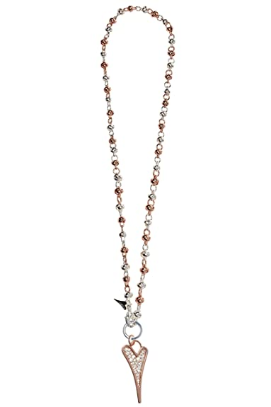 Miss Dee silver plated necklace with multi heart shaped pendants 8yue8bsN
