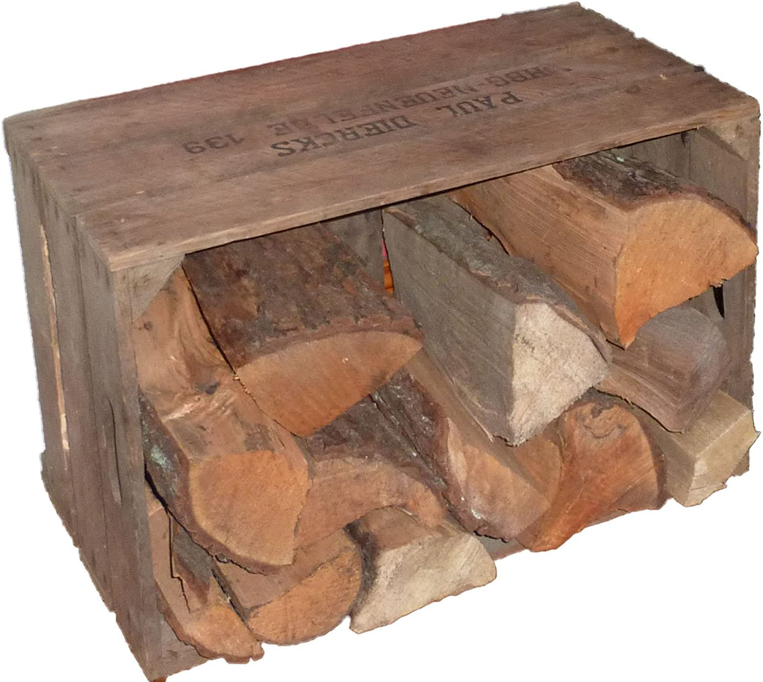 Robust Firewood Storage Box Made With Wood From Altes Land In Germany Amazon Co Uk Kitchen Home