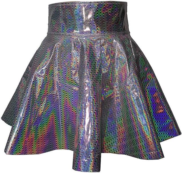 Faldas De Las Suelta Mujeres Alta Cintura De Skater Mini Moda ...