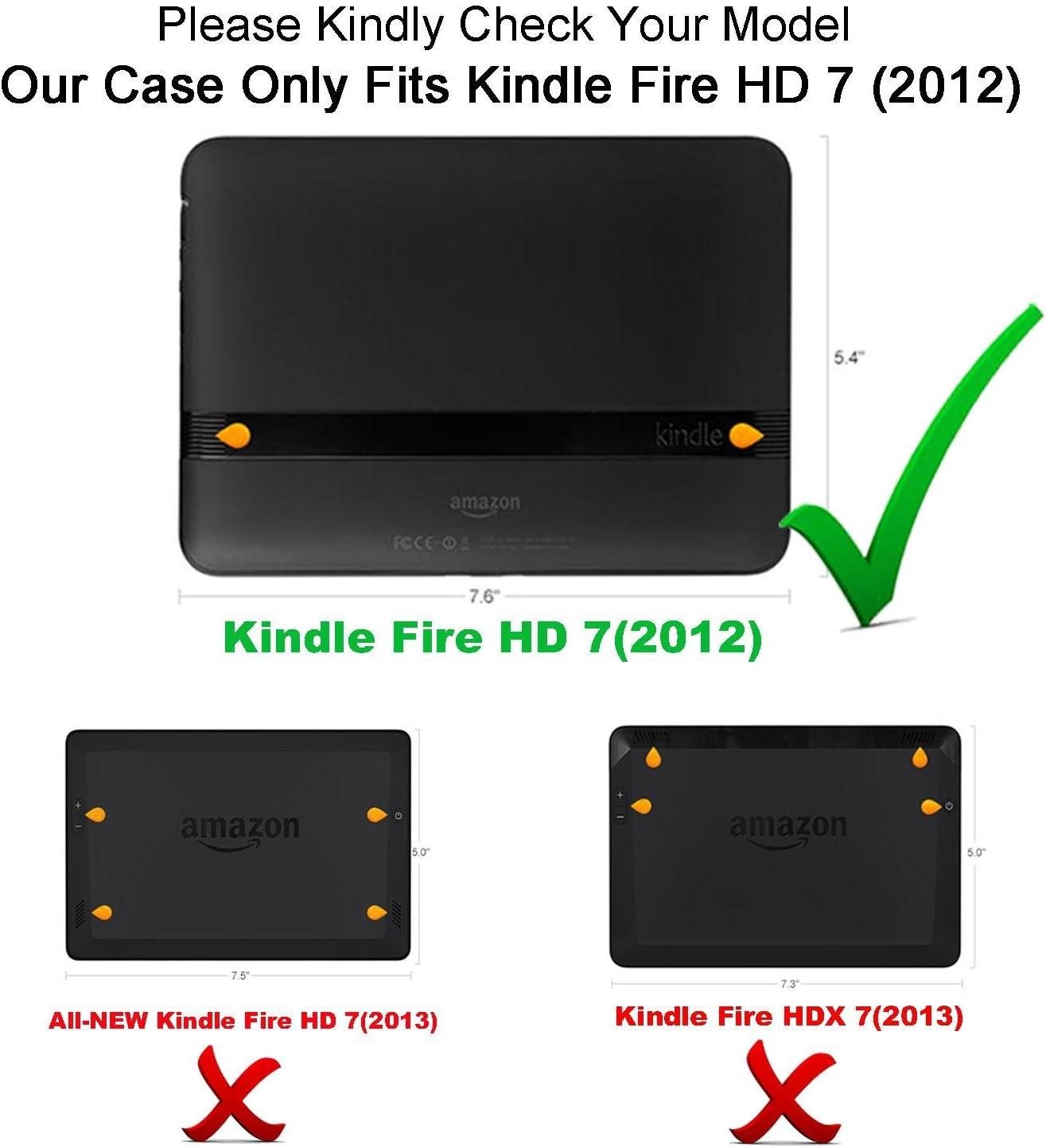 Amazon Com Acdream Kindle Fire Hd 7 2012 Version Case Amazon Kindle Fire Hd7 2012 Previous Model Case Pu Leather Cover Case For Kindle Fire Hd 7 2012 Version With Auto Sleep Wake