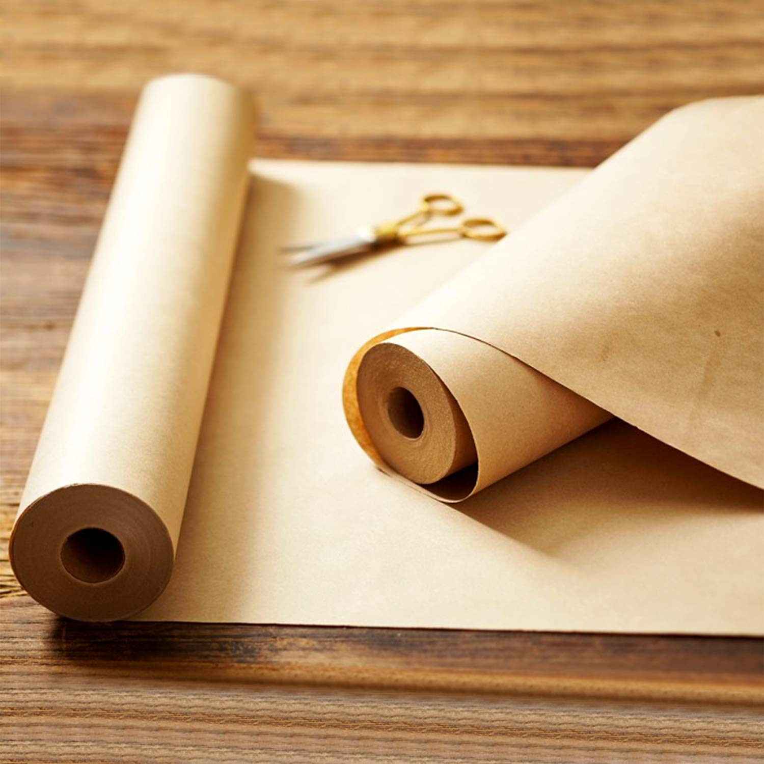 Wrapping Paper Shipping /& Table Settings by Paper Pros 24 inches x 100 feet Unbleached Crafts Packing Unwaxed /& Uncoated for Arts Recycled Kraft Paper Roll