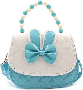 HXQ Little Girls Crossbody Purses,Lovely Princess Mini Handbags Shoulder Bag for Kids