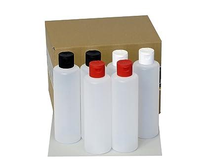 6 botellas de plástico de Octopus de 250 ml, botellas de plástico de HDPE con