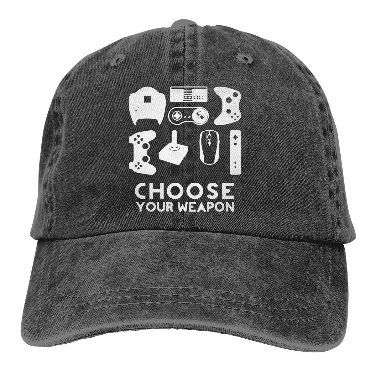 PMGM-C Choose Your Weapon Gamer Unisex Personalize Cowboy Hip Hop Cap Adjustable Baseball Cap
